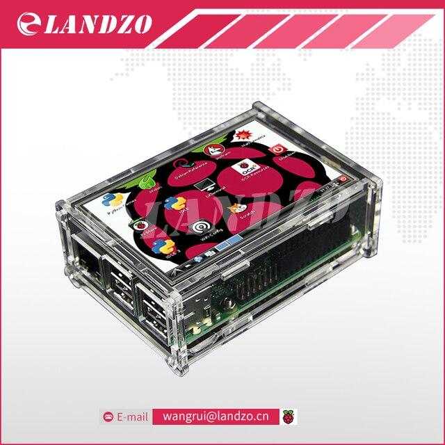 "3.5 inch display 3.5 ""LCD TFT Touchscreen Display voor Raspberry Pi 2/Raspberry Pi 3 Model B Board + Acryl Case + Stylus"