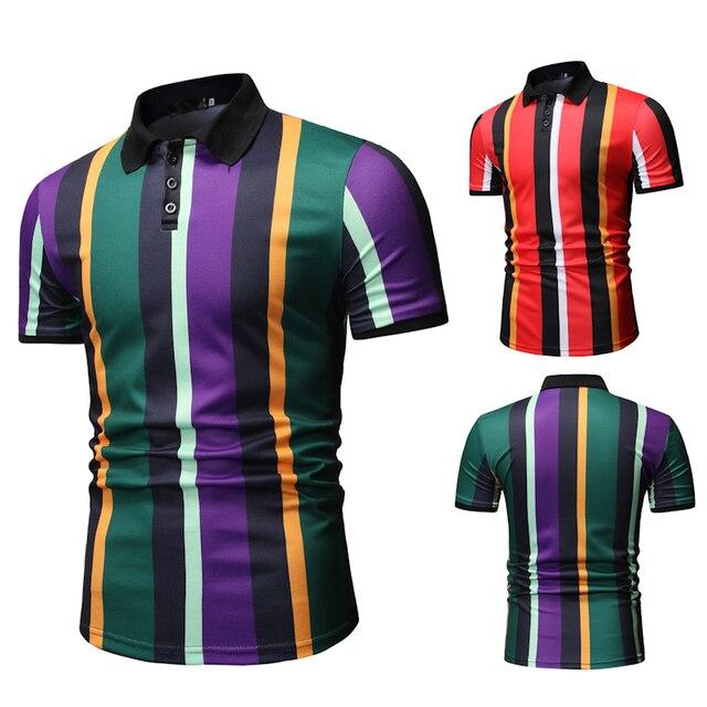 Mannen T Shirtpullover Slim Fit Kleding Nieuwe Mannen Casual Mode Polo Shirt Voor Zomer 2020 Polo Shirt Mannen