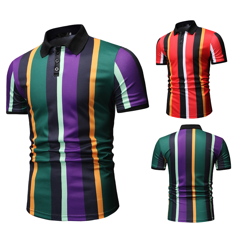 Image 5 - Men T Shirtpullover Slim Fit Clothes New Men's Casual Fashion POLO Shirt for Summer 2019 Polo Shirt Men-in Polo from Men's Clothing