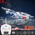 Бесплатная доставка кай дэн к60 RC дроны 2MP HD камера нло 2.4 г 5CH 6-Axis Quadcopter жк-дисплей вертолеты против Syma X5C-1 X8C qr-x400