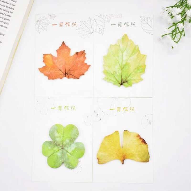 30 แผ่นน่ารัก Kawaii กระดาษ Memo Pad Maple Leaf โพสต์หมายเหตุเด็กเกาหลีเครื่องเขียนของขวัญโรงเรียนอุปกรณ์