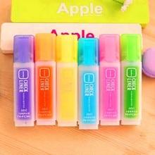 new cute Popular Candy Colour Marker Oblique Tip Highlighters Fluorescent Pen Kawaii Stationery Office School Supplies