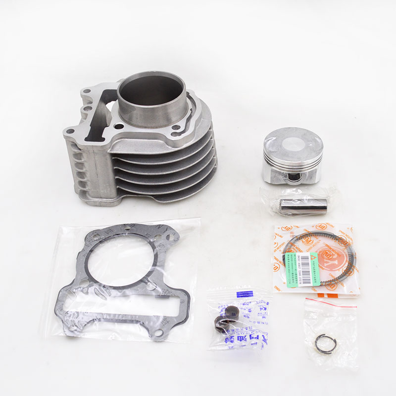 Motorcycle Cylinder Kit For Honda WH100 GCC100 SCR100 Modified 52.4mm Bore Diameter Upgraded Scooter Engine Spare Parts