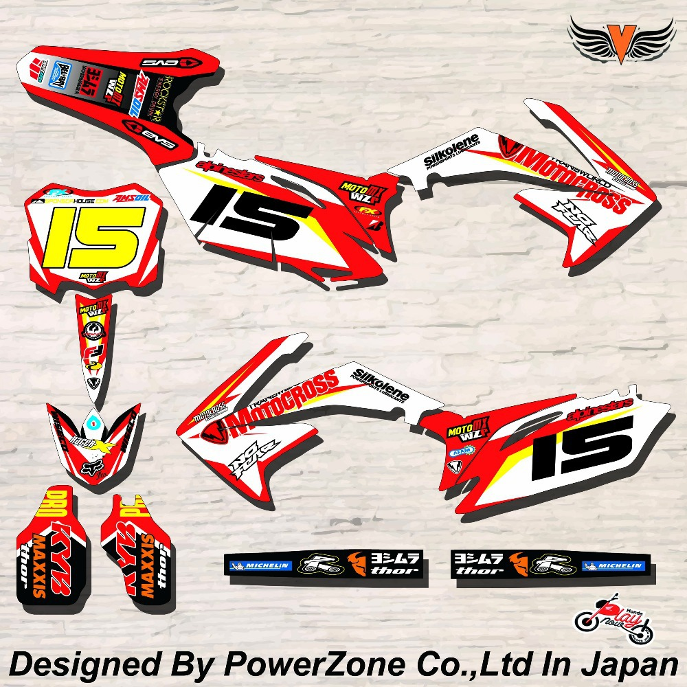 CRF XR CRM 125 250 450 650 Team Graphics Backgrounds Decals Stickers MAXXIS Motor cross Motorcycle Dirt Bike MX Racing Parts