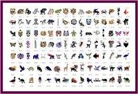 골든 피닉스 책 20 임시 에어 브러쉬 문신 스텐실 바디 아트 그림 꽃 시리즈 메이크업 화장품 무료 배송