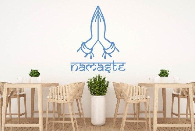Namaste wall decal buddha indian god greeting pose wall stickers namaste wall decal buddha indian god greeting pose wall stickers hidu meditation yoga studio interior removable m4hsunfo