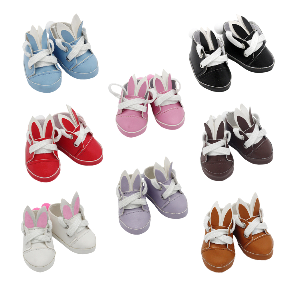 New Arrival 5.5*2.8cm Doll Shoes For 1/6 BJD 14 Inches Baby EXO Doll Fashion Mini Shoes High Quality Doll Accessories