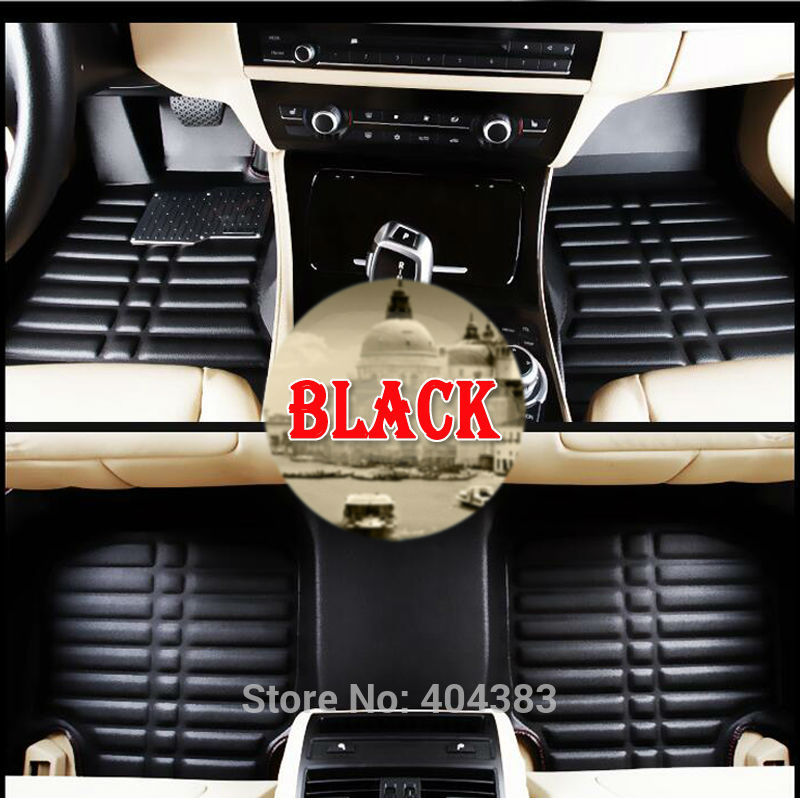 Custom fit car floor leather mats anti-skid for Hyundai ix35 IX25 Elantra Santa Fe Sonata Tucson Accent 3D car-styling liner custom fit car floor leather mats anti skid for hyundai ix35 ix25 elantra santa fe sonata tucson accent 3d car styling liner