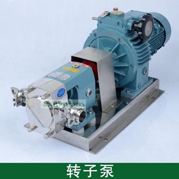 3 T 0.55KW, Rotatif Pompe, Pompe À Engrenages, sainraty, pompe rotative acier inoxydable, série pompe à lobes