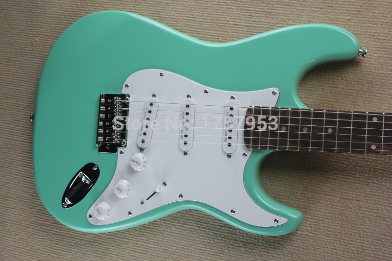 Free Shipping Factory Custom Shop 2017 new Best Price Light green F ST electric guitar 1110  stratocaster free shipping chinese factory custom 2015 100