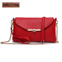 Woman Messenger Bags Elegant High Quality Red Crossbody