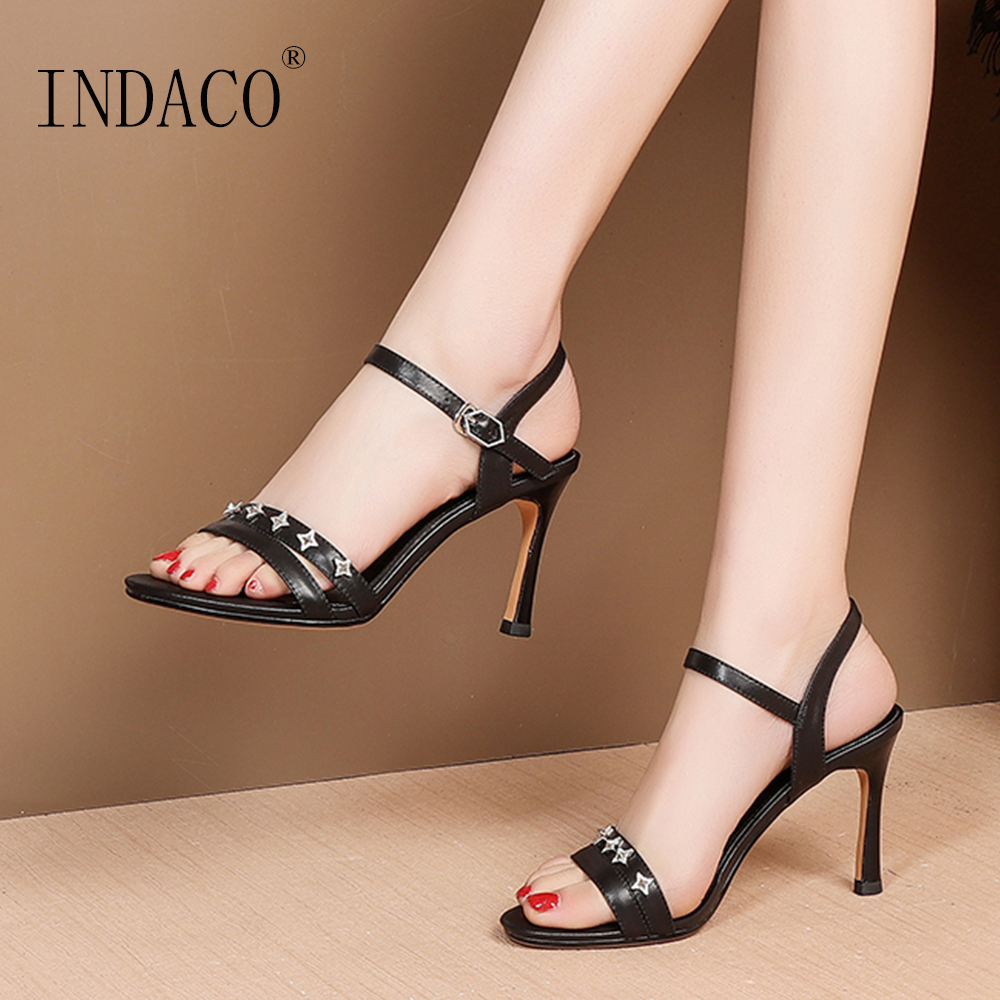 Sandals Women Summer Shoes Footwear 2019 New Thin Heel White Party