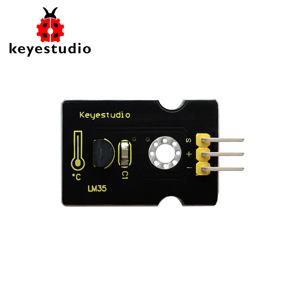 Free Shipping!Keyestudio LM35 Linear Temperature Module S Ensor  For Arduino CE/FCC