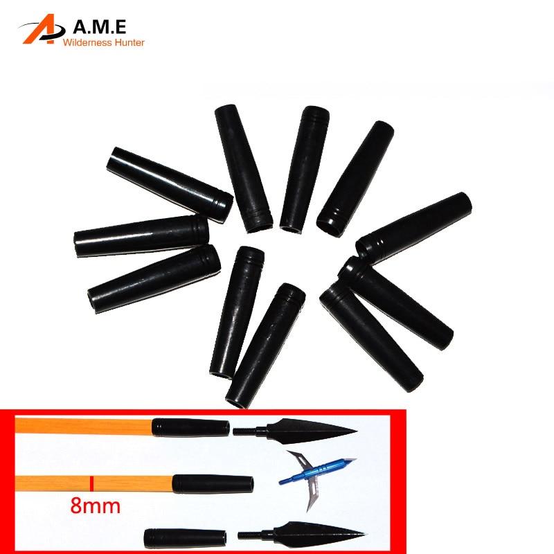 6pk / 10pk arrow panah aluminium untuk diameter 8mm aci anak panah (batang anak panah kayu & bulu Turki buluh anak panah)