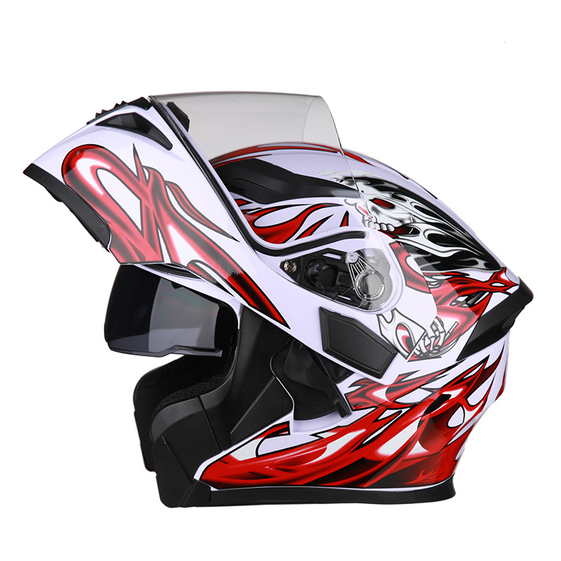 Motorcycle Helmet Man Built-in Bluetooth Motocross Racing Full Face for Locomotive