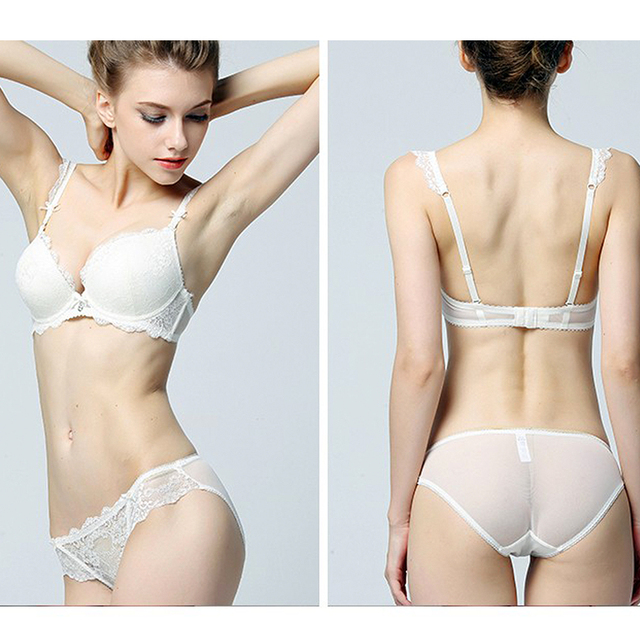 Young Ladies New Hot Lace Sexy Underwear Bra Set Women Intimates Cup Push Up Bras Lingerie