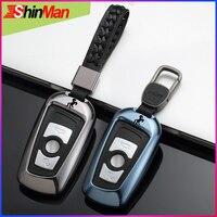 ShinMan Fashion 4 Colors Aluminum Alloy key Car key Cover CAR key Case For BMW 1 2 3 4 5 6 7 Series X3 X4 Keychain Accessories