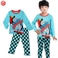 2016 New Arrival Cartoon Thomas And Friends Train Children Boys Pyjamas Clothes Kids Long Sleeve Pijamas Sets Baby Nightgown