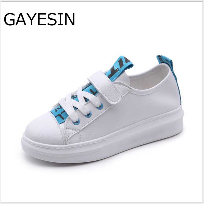 HOT 2018 womens shoes spring summer fashion white sneakers women leather women Increase vulcanized shoes flats zapatos mujer 3