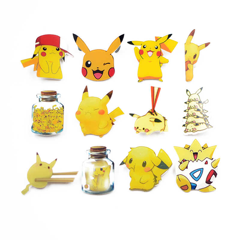 Nengdou Y3 Pikachu Pokemon pin anime icon cartoon pins for clothes acrylic badges for children brooches for backpack accessories