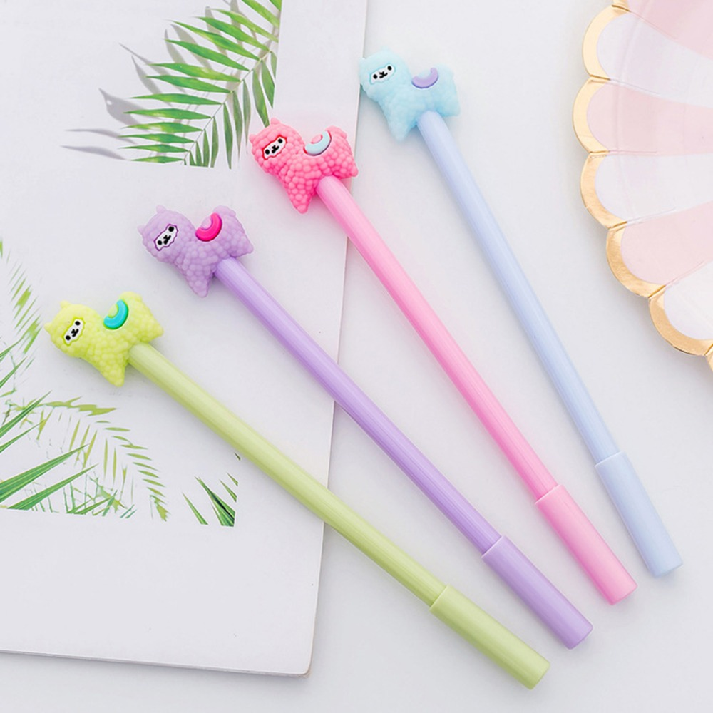 0.5mm Cartoon Alpaca Sheep Gel Pen Lovely Kids Student Office Stationery Ink Pen