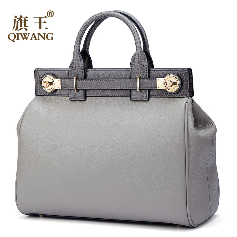 Fashion Women Messager Bag Elegant Lady Tote Handbag Real Genuine Leather Bag Luxury Handbags Women Bags Designer bolso mujer tu teng women elegant doctor bag 2 way tote luxury leather pure color 2018 fashion zipper elegant design lady black khaiki red