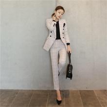 3641e657b853 2018 Women business Suits Fashion Women s Pants Suit slim Suit Jackets with Pants  Office Ladies formal