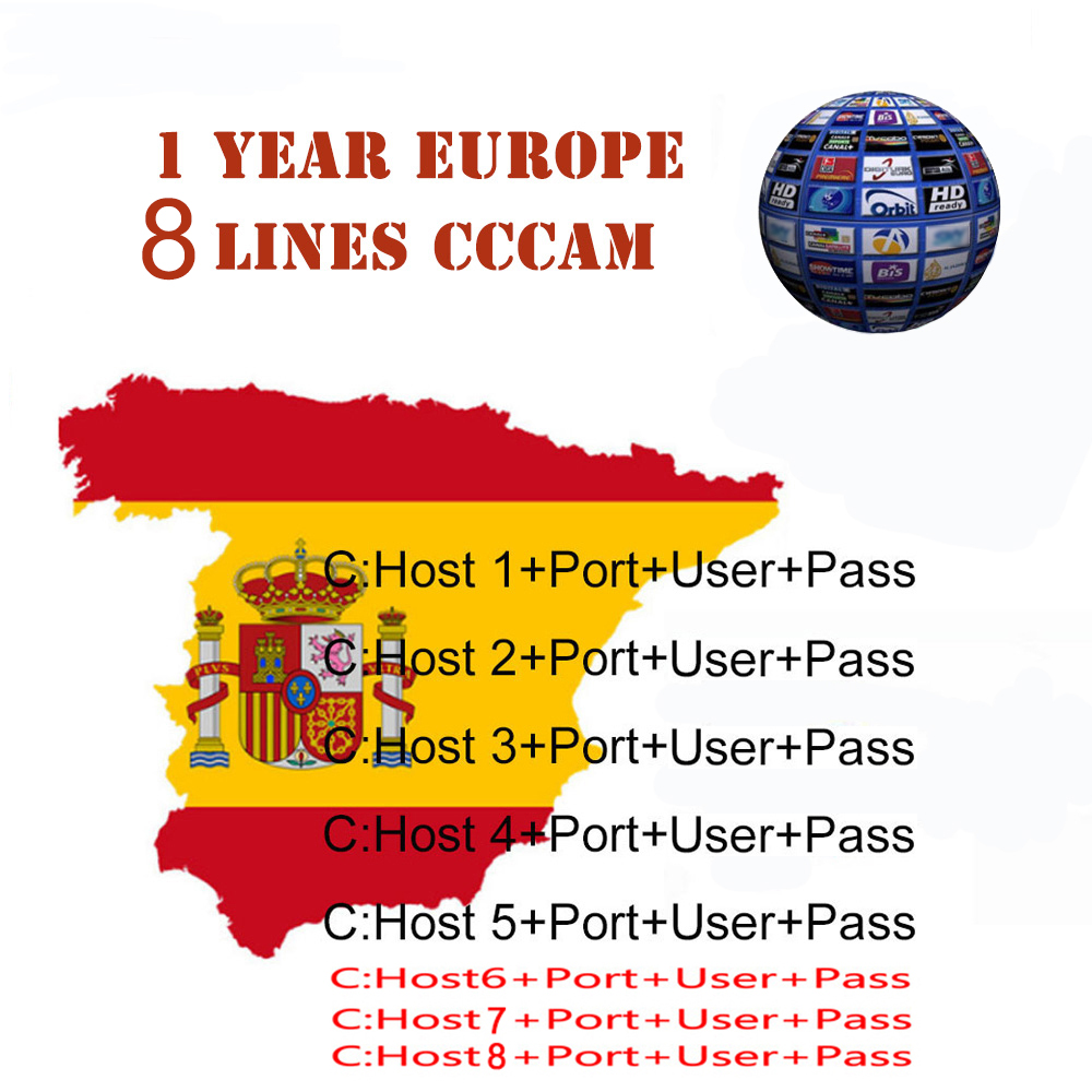 Satxtrem 8 Lines Europe Cccam Cline Cccam Server Account Spain Portugal Poland France Germany Oscam Cccam Gotit 48 Hours Test(China)