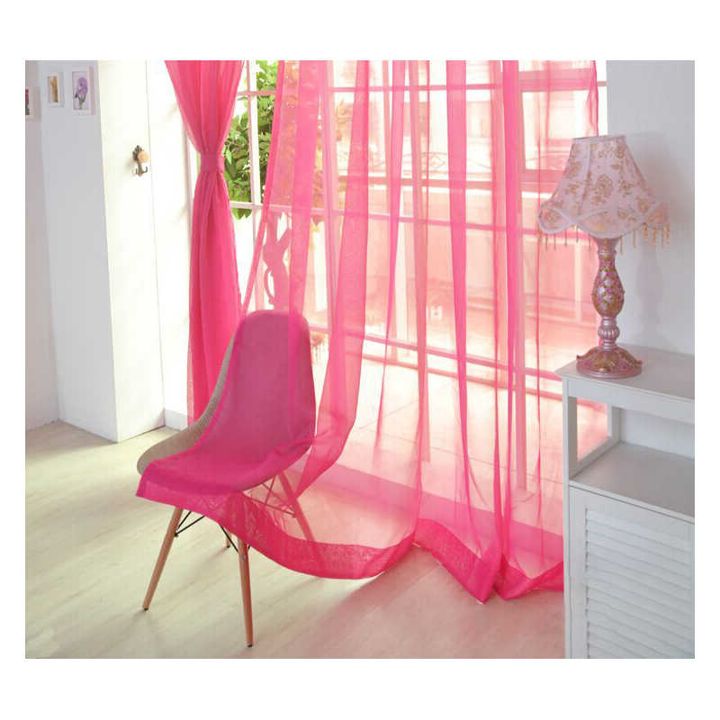 1Pcs Tulle Sheer Curtains For Living Room Kitchen Half Transparent Bedroom Window Curtain Home Door Curtains Decor Window Screen