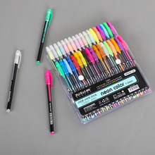 12/24/36/48 Colors Gel Pens Set Glitter Pen Coloring Book Journals Drawing Doodling Art Markers For Office School Stationary