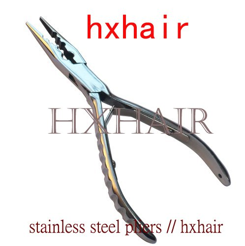 Freeshipping 10pcs Stainless Steel Pliers Multi Function Pliers Hair Extension Pliers