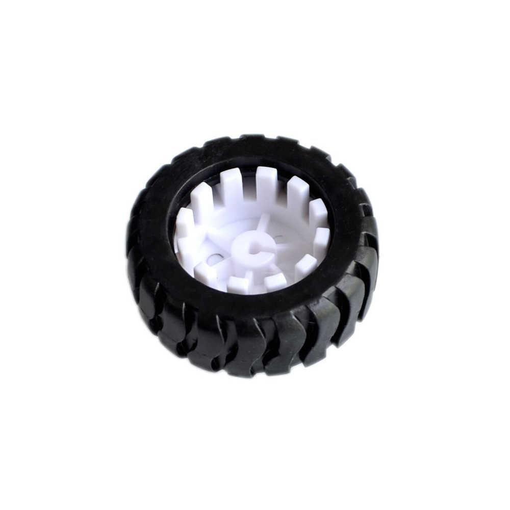 D-حفرة المطاط عجلة مناسبة ل N20 موتور D رمح الإطارات سيارة روبوت DIY بها بنفسك اللعب أجزاء