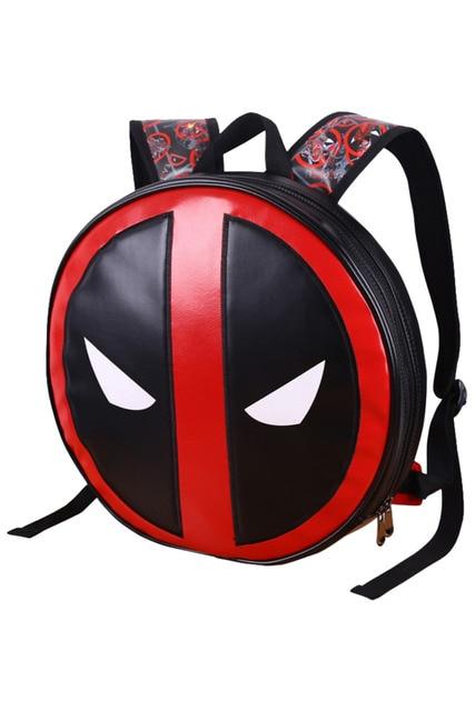 Deadpool Backpack Marvel Comics Super Heroes Shoulder School Bag Cosplay Fashion Pu Waterproof Kids Children S