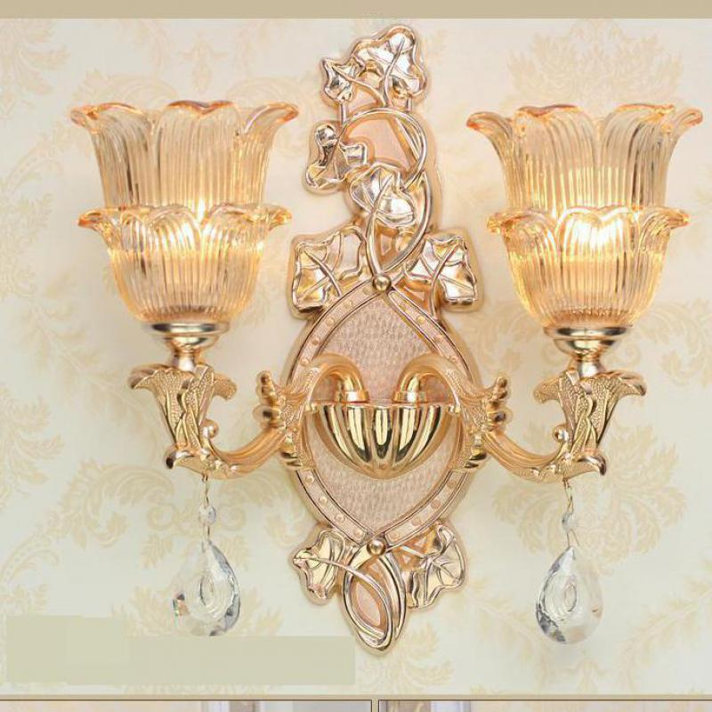 Delux glass shade gold wall lamp E14 E12 project Commercial lighting crystal drops living room hotel mirror Led wall AppliqueDelux glass shade gold wall lamp E14 E12 project Commercial lighting crystal drops living room hotel mirror Led wall Applique