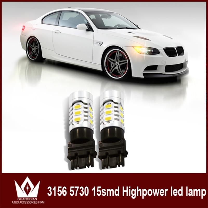 50шт 100шт лампы автомобиля хвост тормозной Лампа свет поворота Обратный лампы парковка сигнальная лампа Т25 3156 p27w 7,5 Вт 5730 15smd для Ниссан Джук