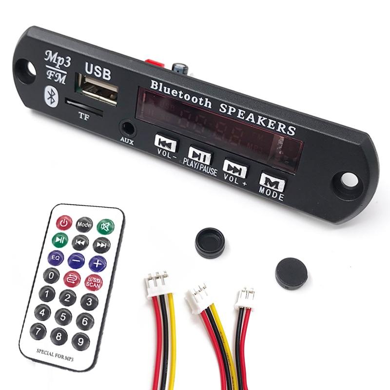 Wireless Bluetooth 12V 24V MP3 WMA Decoder Board Audio Module USB TF Radio FM AUX For Car accessories bluetooth mp3 decoder board module sd card slot usb fm remote m011 aux flac decoder board audio module tf radio for car