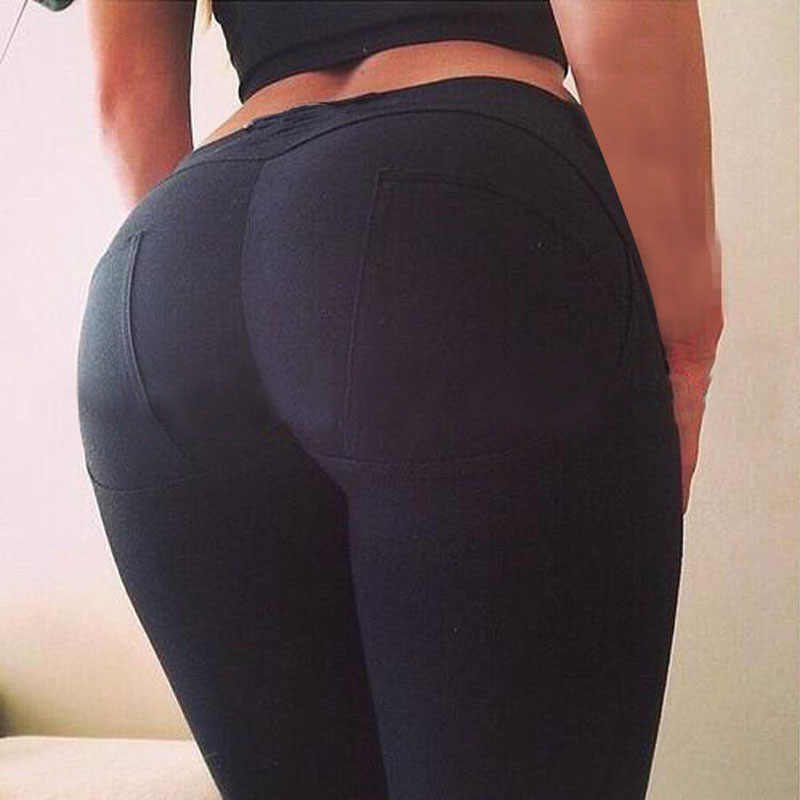 New Arrival Women Big Ass Sexy Push up Hips Leggings Slim Fit Solid Leggins Elastic Skinny Carry Buttock Pants Size S,M,L,XL