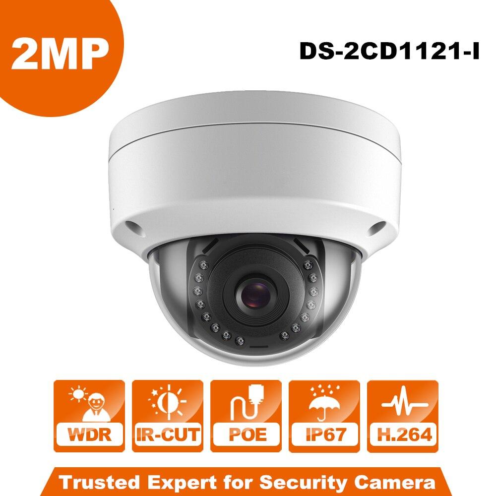 Câmera de CCTV Hikvision Original Inglês DS-2CD1121-I substituir DS-2CD2125F-IS 2MP Mini Câmera Dome IP POE IP67 Firmware Atualizável