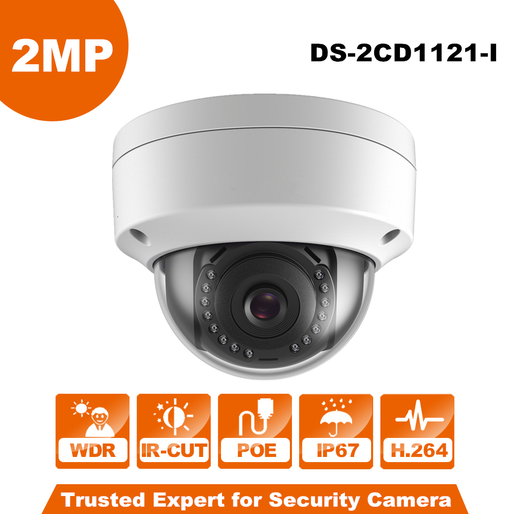 Hikvision Originale Anglaise CCTV Caméra DS-2CD1121-I remplacer DS-2CD2125F-IS 2MP Mini Dôme IP Caméra POE IP67 Firmware Extensible