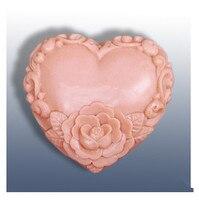 Jour de Valentine DIY coeur/rose forme savon à la main moule bougie moules en silicone moule Bonbons Au Chocolat Moules Forme de gâteau