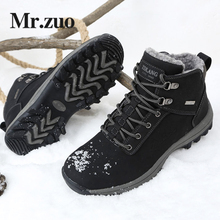Men's Winter Sneakers 2017 Hiking Shoes boots Men Footwear Keep Warm Snow Shoes Trekking Boots Outdoor Big Sizes 45 46