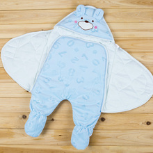 Baby Wrap Organic cotton blanket,Multifunctional Muslin Baby Newborns Blanket,Baby Swaddle Blanket Bag feet Receiving Blankets
