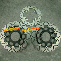 Motorcycle Front Rear Brake Disc Rotors Repacement Parts For Honda CBR600F4i 01 06 Black High Quality