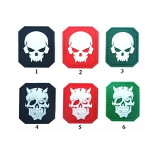 3D PVC Glue loops and hook Night patch Tactical Army Morale Badge noctilucent Luminous Skull patches