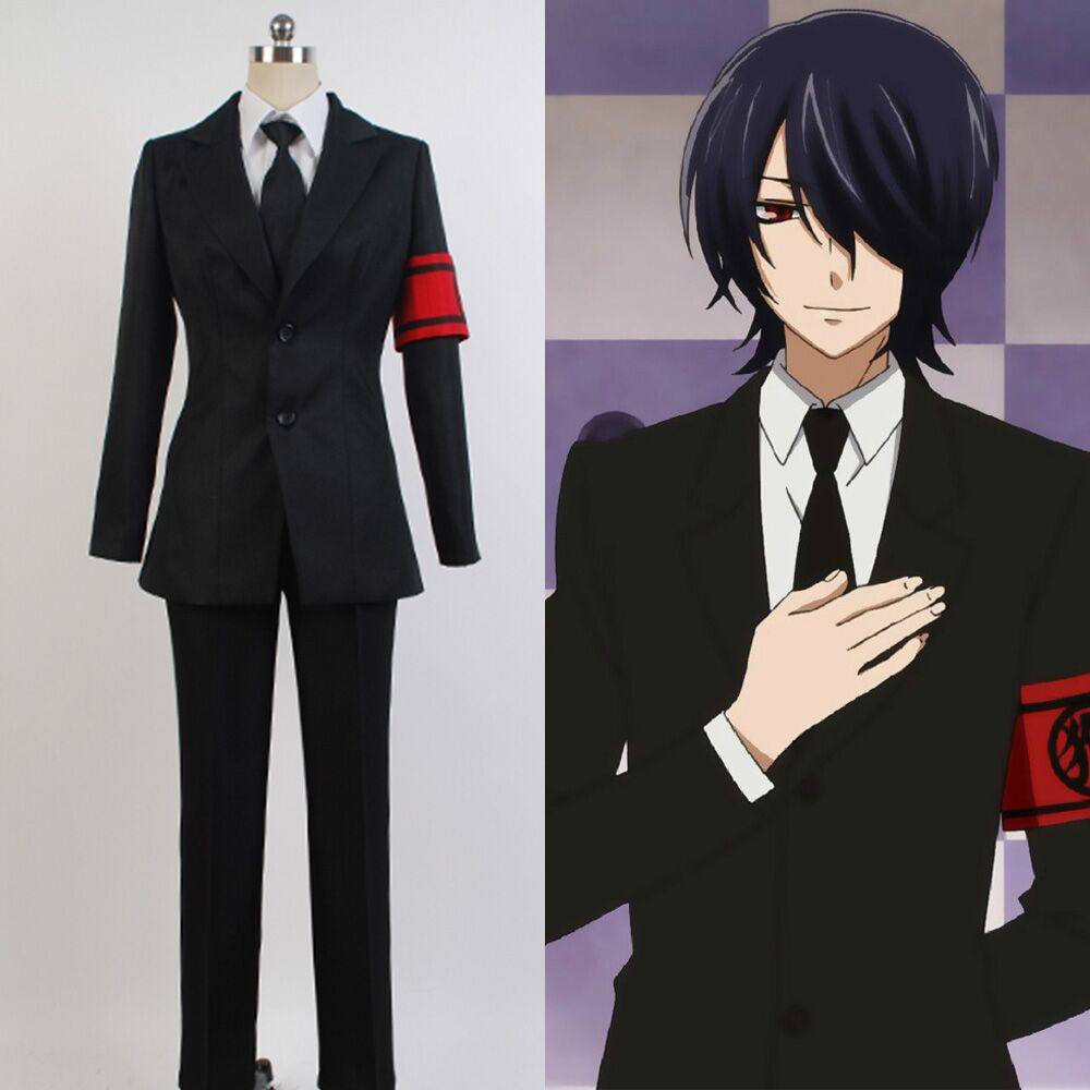 Gugure!Kokkuri-san Inugami Suit Outfit Costume Full Sets Uniform Suit Halloween Carnival Party Cosplay For Adult Costume
