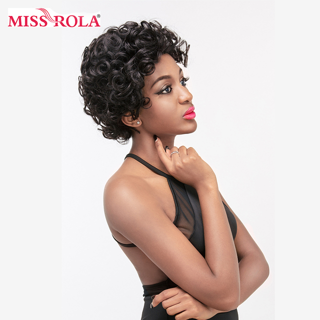 Miss Rola Hair Brazilian Non Remy Human Hair Body Wave Short Jessica 100% Human Hair Average Size For Women Wigs Free Shipping