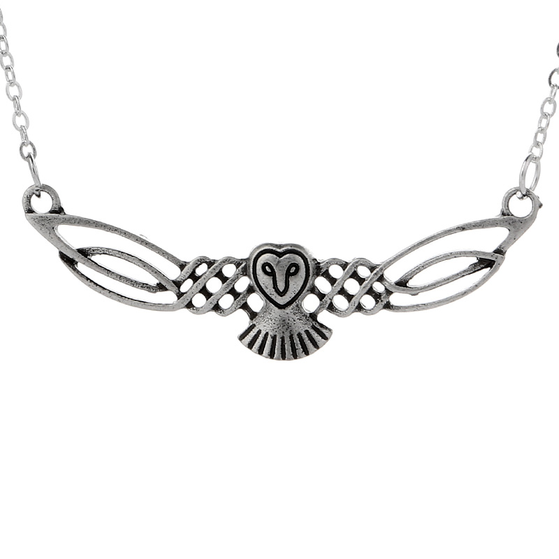 Spirit Amulet Antique Silver Necklace