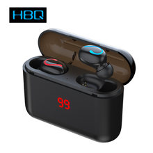HBQ Q32 TWS LED Bluetooth 5.0 Earphone Wireless Headphons Sport Handsfree Earbuds 3D Stereo Gaming Headset With Mic Charging Box(China)