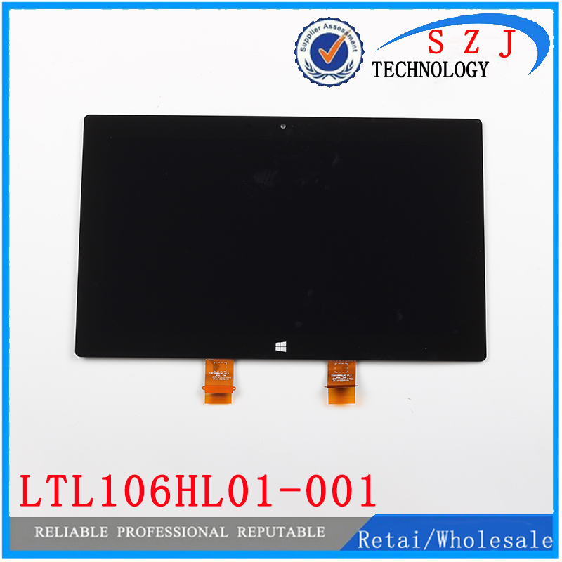 ФОТО New 10.6'' inch For Microsoft Surface PRO 2 1601 LTL106HL01-001 Touch Digitizer LCD Screen Display Assembly Free shipping