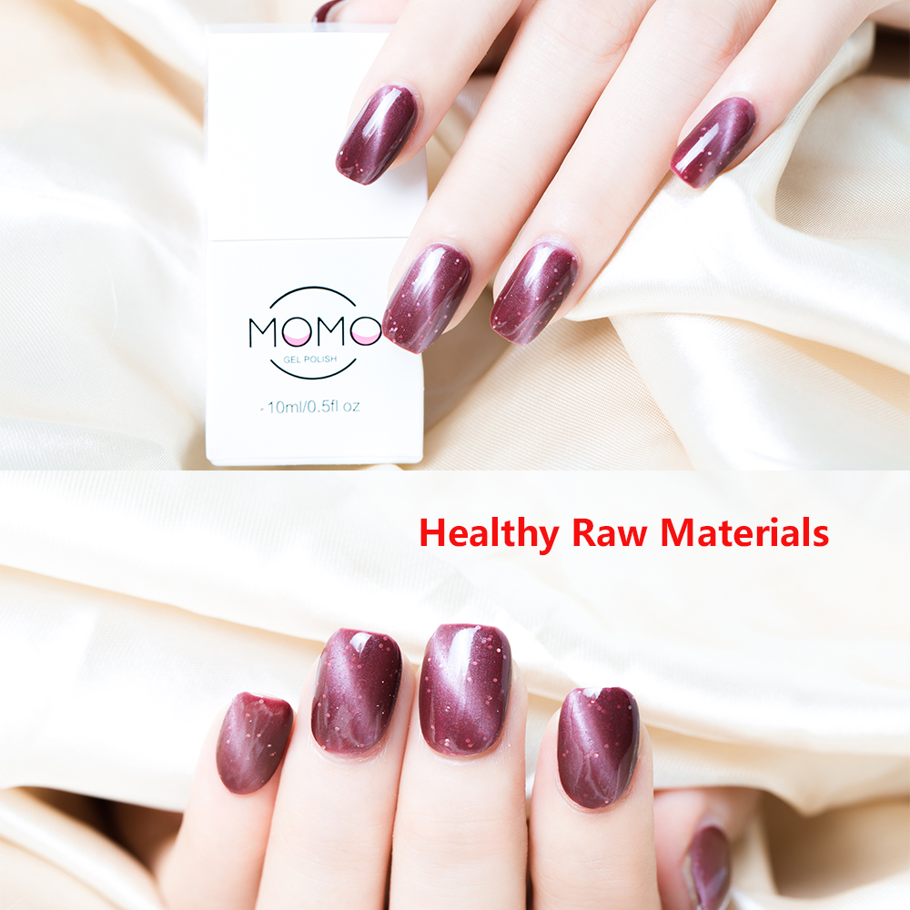Momo 10ml Enamel Magnetic Cat Eye Gel Nail Polish Set kit Gemstone Semi Permanent Soak Off Gel Polish Hybrid Varnish Gellak in Nail Gel from Beauty Health